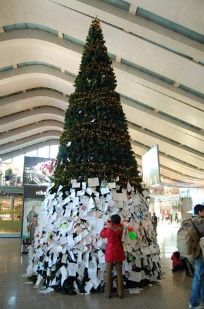 Olasz karácsony - karácsonyfa a Termini állomáson
