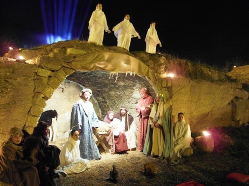 Olasz karácsony - élő Betlehem